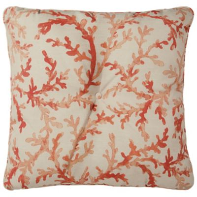 "25"" Tufted Throw Pillow/Cushion 25""x25""x6"" - Sea Coral"