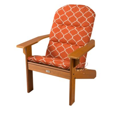 "Adirondack Chair Cushion 52""x20""x2-1/2"" - Madeira Orange Print"