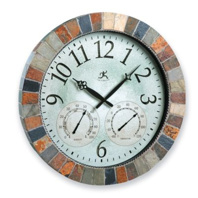 "18"" Slate Mosaic Indoor/Outdoor Clock"
