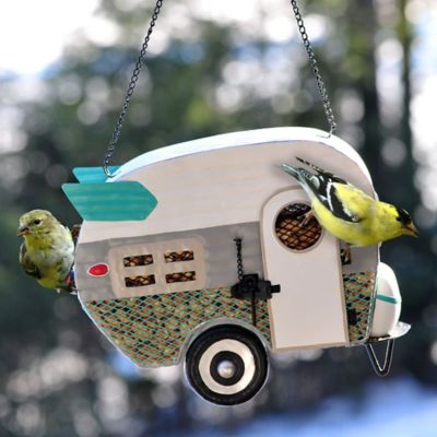 Retro Mesh Camper Bird Feeder