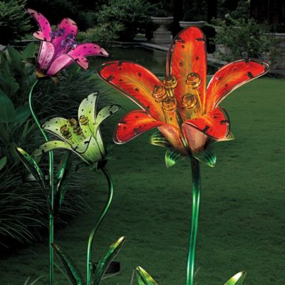 Solar Tiger Lily Stake