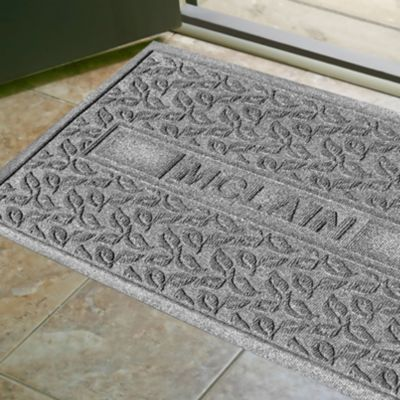 Water Guard Personalized Mat-Scattered Leaves Pattern-2' x 3'