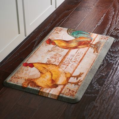 Rooster Rise & Shine Quick Dry Kitchen Mat
