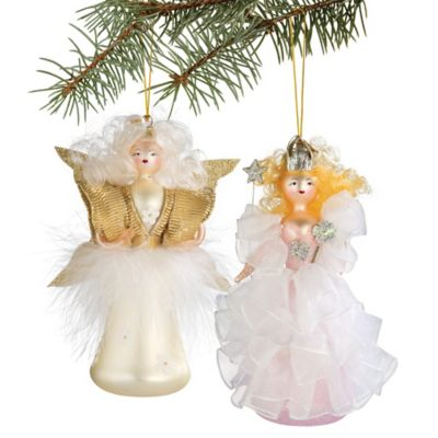 Italian Angel Christmas Ornaments-Set of 2