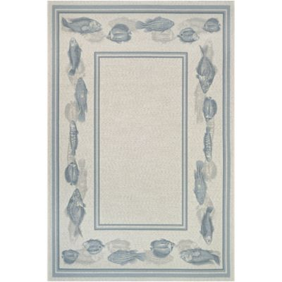 Corvina Fish Border Outdoor Rugs