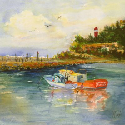 "Outdoor Canvas Art-Safe Harbor 24"" x 24"""