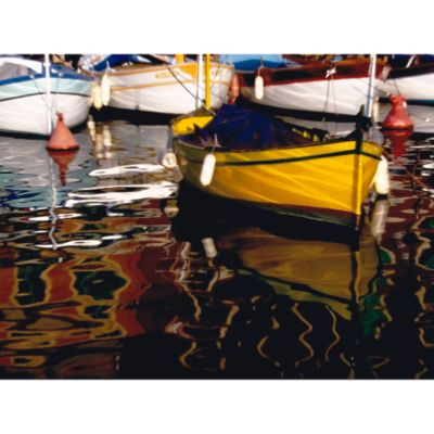 """Outdoor Canvas Art-Yellow Boat 30"""" x 40"""""""