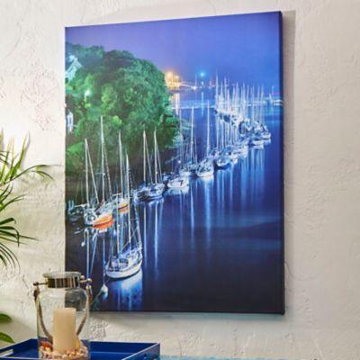 """Outdoor Canvas Art-Les Bateaux 30"""" x 40"""""""