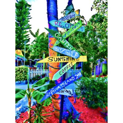 Outdoor Canvas Art-Sanibel Signs