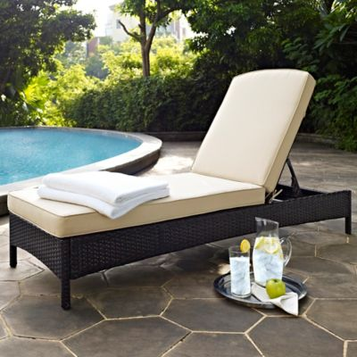 Palm Harbor Resin Wicker Chaise Lounger with Cushion