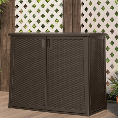 Outdoor Resin Woven Cabinet