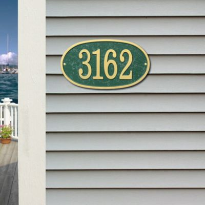 Oval House Numbers Plaque
