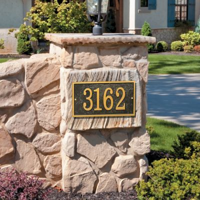 Rectangle House Numbers Plaque