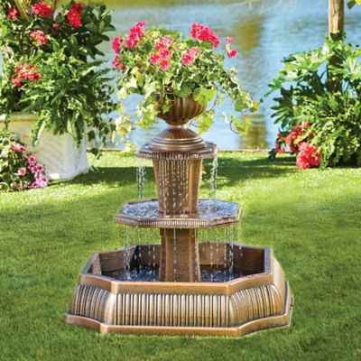Resin Planter Fountain