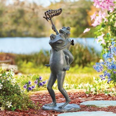 Butterfly Chasers Garden Statue