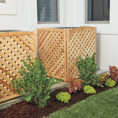 Wood Lattice Air Conditioner Screens