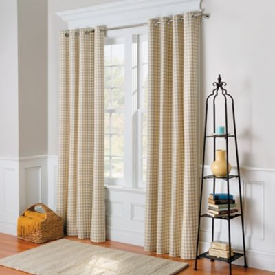 Gingham Check Thermal Curtain Pair