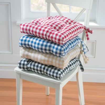 Gingham Check Chair Pad