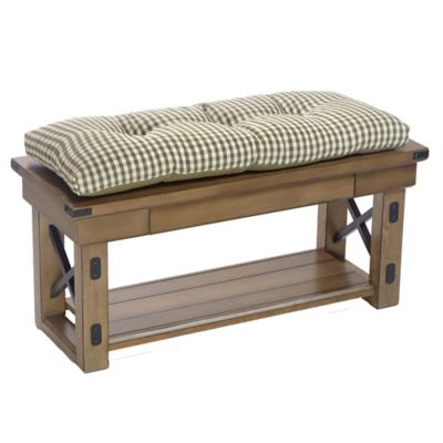Gingham Tufted Bench Cushions