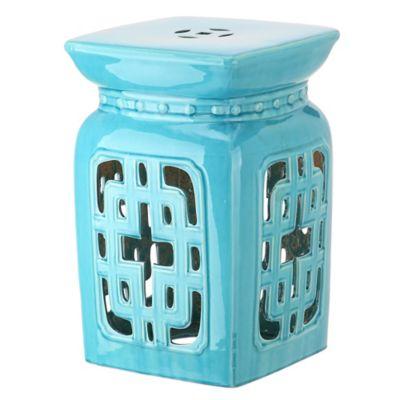 Filigree Ceramic Garden Stool