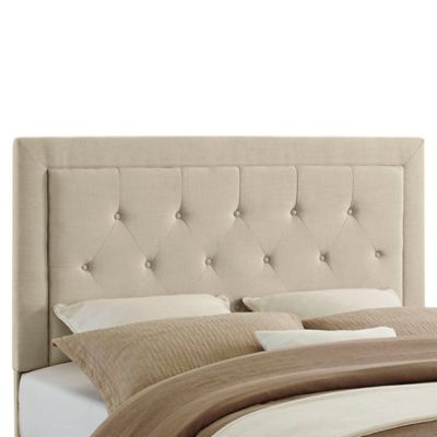 Clayton Tufted Upholstered Headboard-Full/Queen
