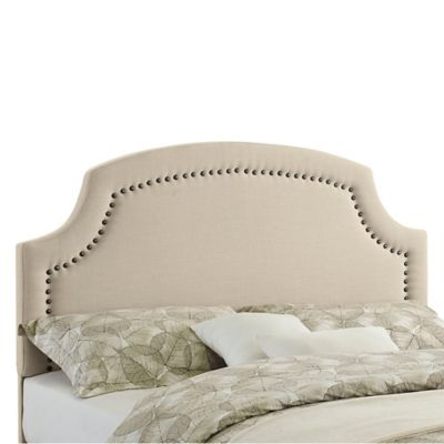 Regency Nailhead Upholstered Headboard-Full/Queen