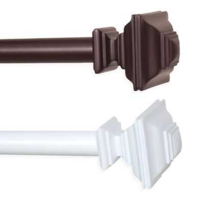 Elite Curtain Rod with Square Finial