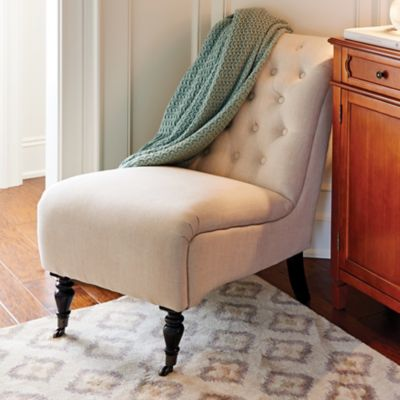 Cassandra Tufted Slipper Chair