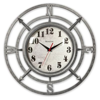 Westclox Compass Wall Clock