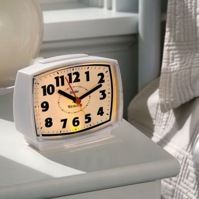Westclox Electric Alarm Clock with Constant Lighted Dial