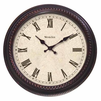 Westclox Marble Finish Wall Clock-20""