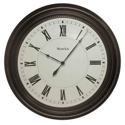 Westclox Bronze Finish Wall Clock-16""