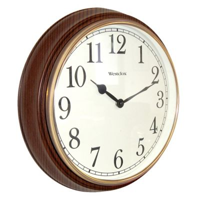 Westclox Woodgrain Finish Wall Clock-15-1/2""