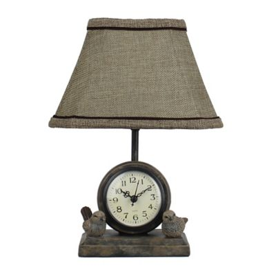 Spring Forward Accent Lamp with Clock