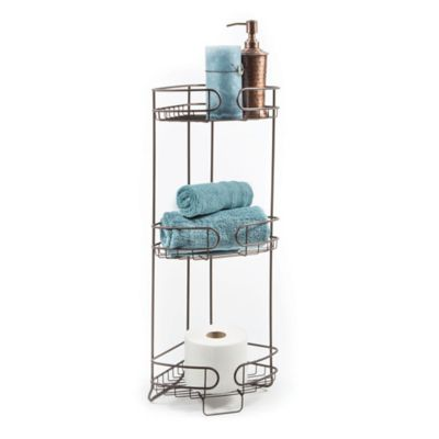 3-Tier Corner Bath Storage Tower