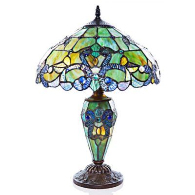 Stained Glass Double Light Table Lamp