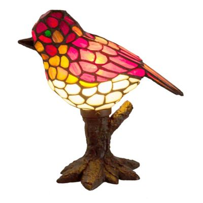Stained Glass Bird Accent Lamp