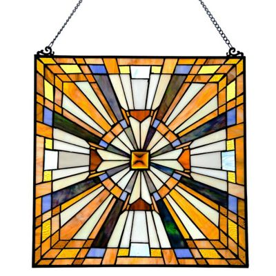Stained Glass Pharaoh's Jewel Window Panel