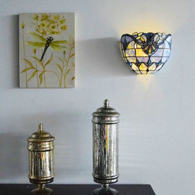 Allistar Wireless Stained Glass LED Wall Sconce