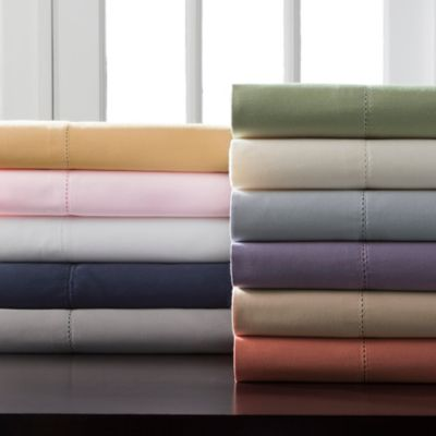 Hemstitch 400 Thread Count Solid Sheet Sets