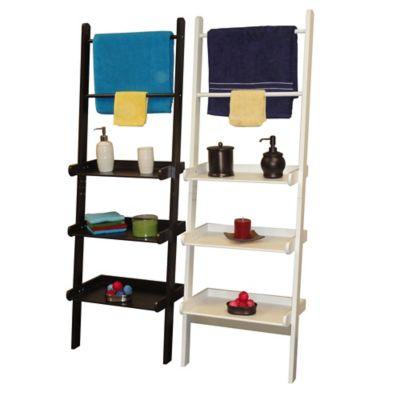 3-Tier Ladder Shelf & Towel Bar