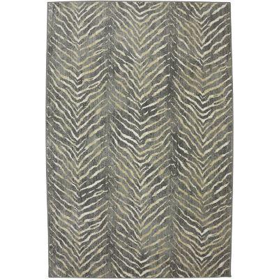 Neutral Tiger Stripe Area Rugs