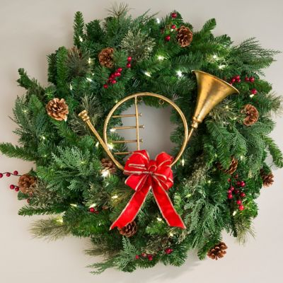 French Horn Christmas Decoration