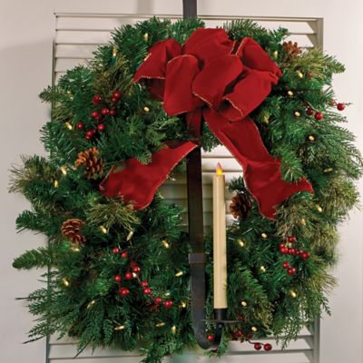 Over-the-Door Wreath Hanger and Candle Holder