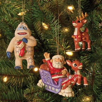 Jim Shore Rudolph Traditions Christmas Ornaments