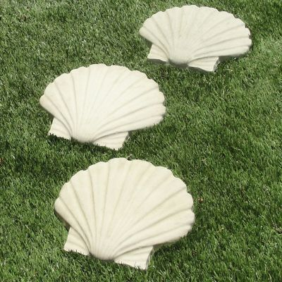 Seashell Garden Stepping Stones-Set of 3