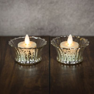 Battery Operated Tea Light Candles-Set of 2