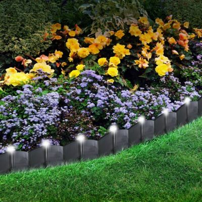Solar Powered LED Lighted Landscape Edging
