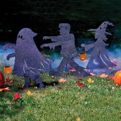 Metal Trick or Treaters Halloween Yard Decor