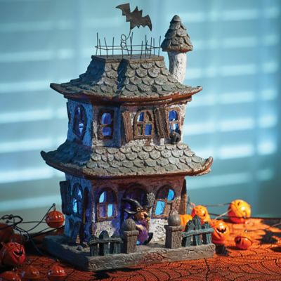 Lighted Spooky Halloween House